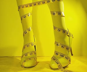 aesthetic, yellow, and tape measure image