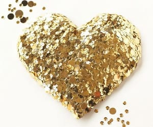 bright, golden, and heart image