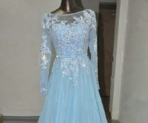 long prom dress and blue prom dress image