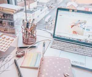 desktop, study, and workspace image