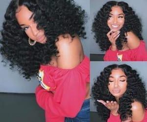 black hair, natural hair, and black model image