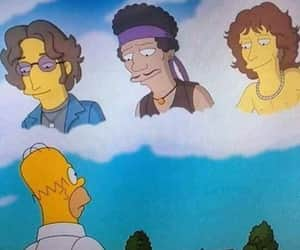 simpsons, Jim Morrison, and Jimi Hendrix image