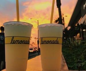 beach, drink, and lemonade image