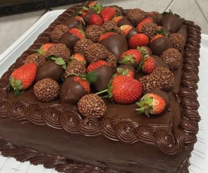 cake, chocolate, and foods image