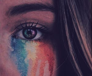 colors, eyes, and rainbow image