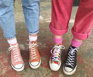 colorful, converse, and fashion image