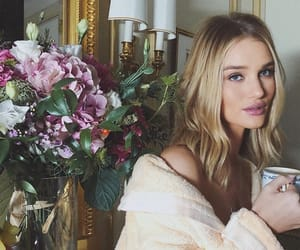 flowers, model, and rosie huntington whiteley image