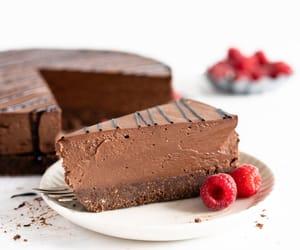 cheesecake, chocolate, and food image