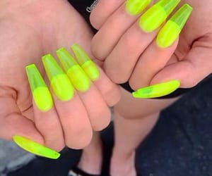 acrylic, nails, and neon image