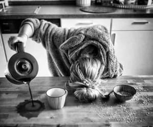 coffee, morning, and black image