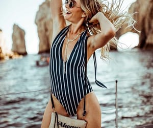 black, one piece, and stripes image