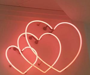 heart, light, and peach image