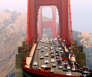 bridge, car, and city image