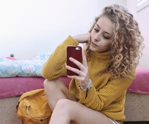 curly, fashion, and happy image