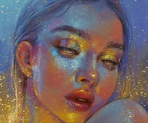 art, drawing, and glitter image