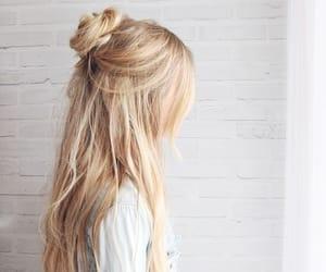 braid, hairdo, and longhair image