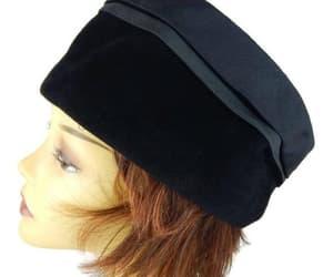black, ladies hat, and 1950s hat image