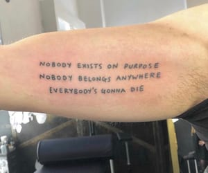 black, quote, and tattoo image