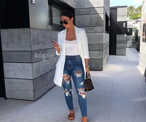 lifestyle, fashion style, and jeans troué image