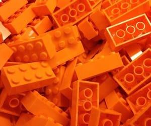 aesthetic, legos, and orange image