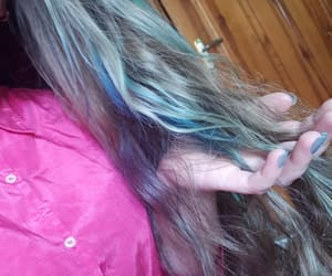 blue hair, diy, and hair image