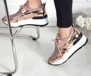 metallic, sneakers, and metalik image