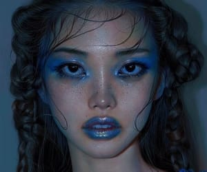 blue, art, and girl image