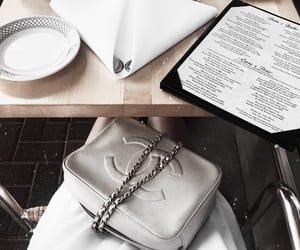 bag, chanel, and drinks image