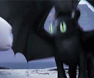 animation, toothless, and night fury image