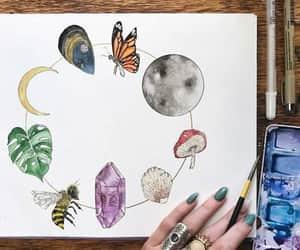 amethyst, art, and bee image