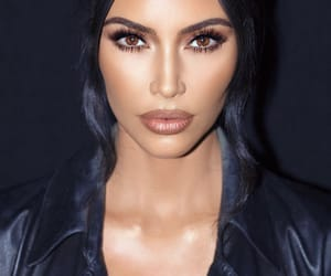 kim kardashian, makeup, and kim kardashian west image