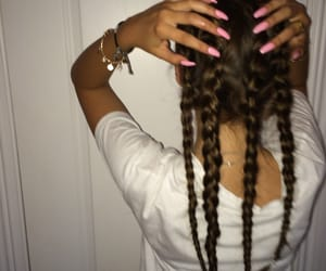 nails, hair, and braid image