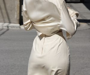 fashion, white, and silk image