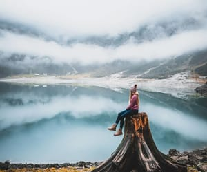 adventure, clouds, and girl image