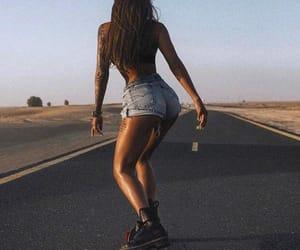 longboard, skate, and summer image