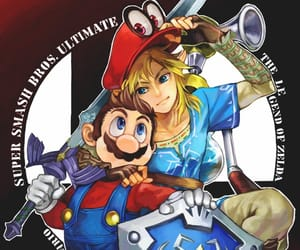 game, link, and mario image