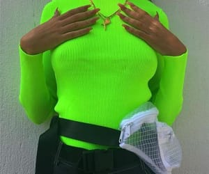 fashion, green, and neon image