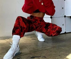 outfit, red, and fashion image