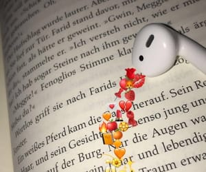 background, book, and airpods image