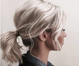 hair, girl, and ponytail image