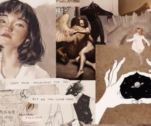 wallpaper, art, and brown image