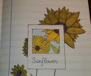 bullet, diary, and flowers image