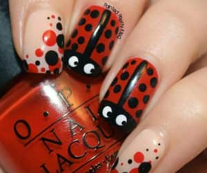 manicure, nails red, and uñas image