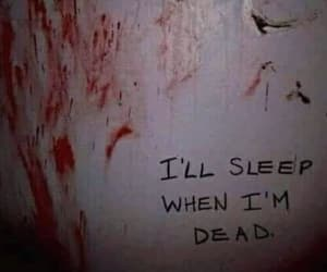 dead, sleep, and blood image