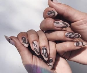nails, snake, and Nude image