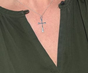 etsy, sterling silver, and cross necklace image
