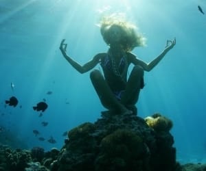 blue, water, and yoga image