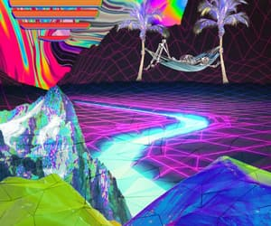 beach, mountains, and Collage image