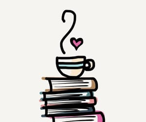 book, coffee, and wallpaper image