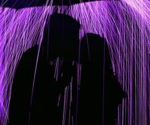 purple, rain, and couple image
